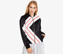 Satin-Bomberjacke K/Stripes