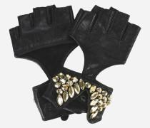 K/Party Fingerlose Handschuhe aus Leder
