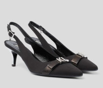 Manoir Slingback-Pumps mit Zierriemen