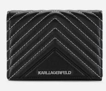 K/Klassik Geldbörse aus Leder mit gesteppten Details