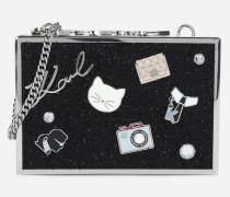 K/Pins Box-Clutch mit Tweed