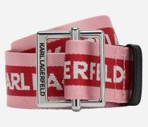 Karl Gurtband-Gürtel mit Logo