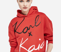 Karl x Kaia Cropped-Hoodie