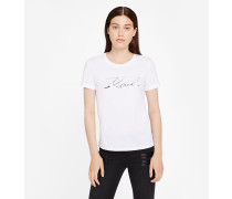 Ikonik Karl Signature T-Shirt mit Folienprint