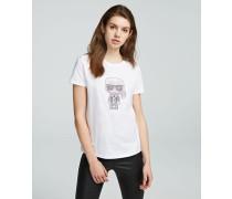 K/Ikonik T-Shirt mit Strasssteinen
