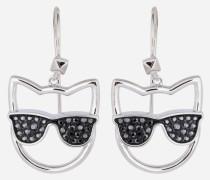 Ohrringe mit Choupette und Sonnenbrille