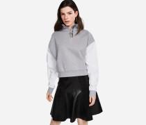Kurzes Sweatshirt mit Zip-up-Kragen