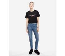 Karl x Kaia T-Shirt mit Cropped-Schnitt
