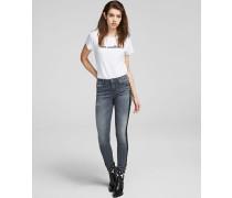 Skinny Jeans mit Glitzer-Tapes
