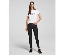Skinny Jeans mit Leoparden-print
