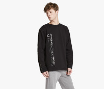 Sweatshirt mit Logo und Zipper