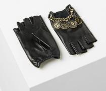 K/Treasure Fingerlose Handschuhe mit Logoanhängern