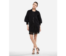 Oversized-Cardigan aus Woll-Mohair-Mix