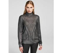 Pullover mit Metallic-Beschichtung