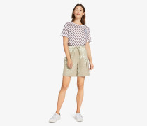Shorts in Metallic-Optik mit Tunnelzug