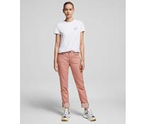 Girlfriend-jeans aus Coloured Denim