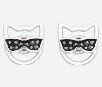 Choupette-Ohrringe mit Sonnenbrille