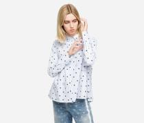 K/Dots Bluse mit hohem Kragen