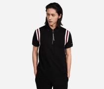 Poloshirt aus Baumwoll-Piqué mit Zip-Kragen