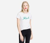 T-Shirt mit doppeltem Logo