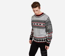 Fair-Isle-Pullover aus Wolle-Mix
