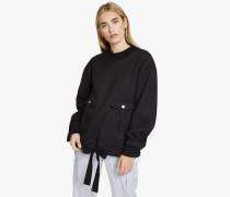 Oversized-Sweatshirt aus Mesh