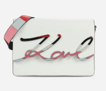 K/Signature Schultertasche mit Emaille-Detail