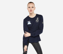 Karl Space Peplum-Sweatshirt