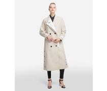Mantel aus strukturiertem Wollmix