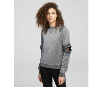 Sweatshirt mit Cut-outs am Ärmel