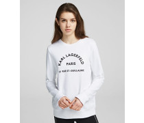Sweatshirt mit Rue St. Guillaume Logo-Print