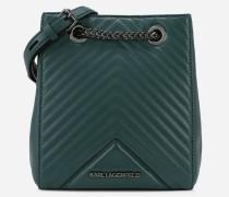 K/Klassik Bucket Bag aus Leder mit gesteppten Details