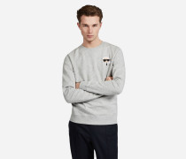 Sweatshirt mit Applikation Karls Signature-Look