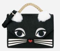 K/Klassik Handtasche aus Leder, Mini