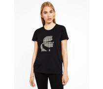 T-Shirt mit Karls Profil aus Tweed