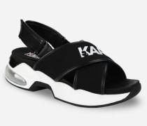 Ventura Sandalen mit überkreuzten Riemen und Karl-Logo