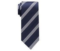 Krawatte Marineblau/ Silbergrau Gestreift