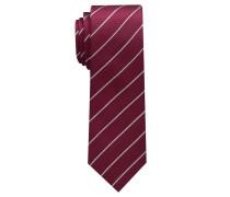 Krawatte Weinrot/silbergrau Gestreift
