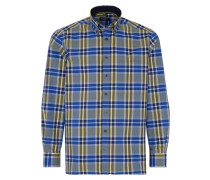 Langarm Hemd Comfort FIT Popeline Blau/weiss Kariert