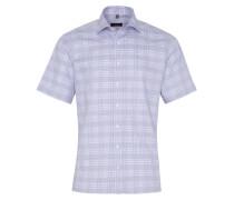 Kurzarm Hemd Modern FIT Oxford Flieder/weiss Kariert