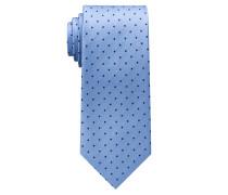 Krawatte Hellblau/marine Getupft