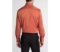 Langarm Hemd Comfort FIT Pinpoint Orange Unifarben
