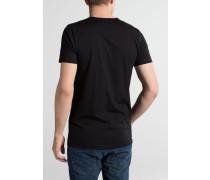 Bodyshirt MIT Verlängertem V-Ausschnitt Schwarz Unifarben