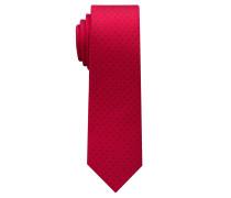 Krawatte Rot/marine Getupft