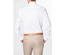 Langarm Hemd Slim FIT Stretch Weiss Unifarben