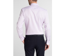 Langarm Hemd Slim FIT Kettlancè Rosa/weiss Strukturiert