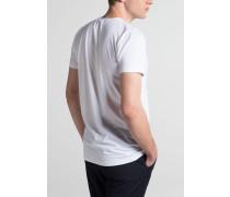Bodyshirt MIT V-Hals Ausschnitt Weiss Unifarben