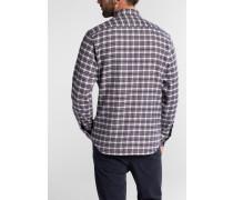 Langarm Hemd Modern FIT Flanell Braun/schwarz Kariert
