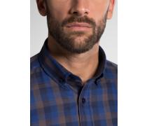 Langarm Hemd Modern FIT Flanell Blau/schwarz Kariert