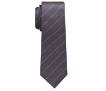 Krawatte Silbergrau/flieder Gestreift